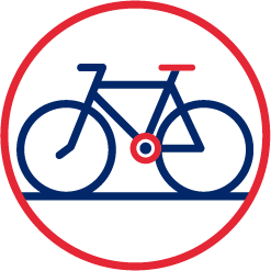 CYCLIST<br />  FRIENDLY icon